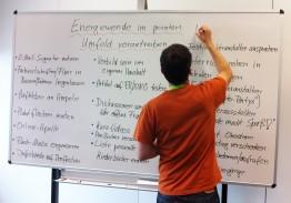 Beim Brainstorming auf dem Barcamp in Kassel entstanden viele kreative Ideen
