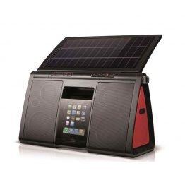Die Soulra Soundanlage mit Solarmodul. Quelle: Grünspar