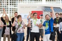 Vernetzung auf dem 2. Barcamp Renewables im September 2013