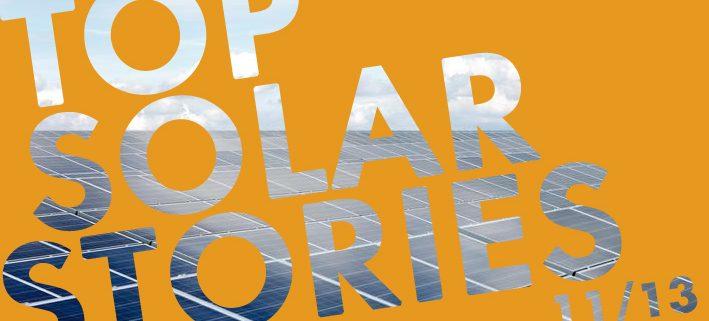 top solar stories november 2013