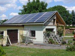 Photovoltaikanlage inklusive Ausbau des Dachstuhls