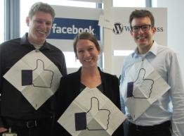 Jannis, Leonie und Henrik vom SMA Social-Media-Team