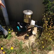 Variable speed drive pump that provide extra pressure to the water storage tank