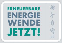 Mehr Infos zur Kampagne findet ihr unter erneuerbare-jetzt.de