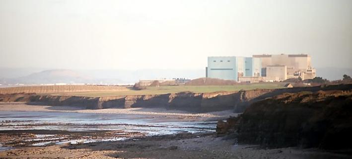 Westliches Ende des Hinkley Point Atomkraftwerks.