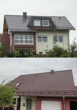 Bilder vom Haus, vor dem Bau PV-Anlage