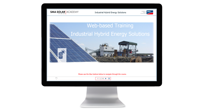 SMA web-based training hybrid energy