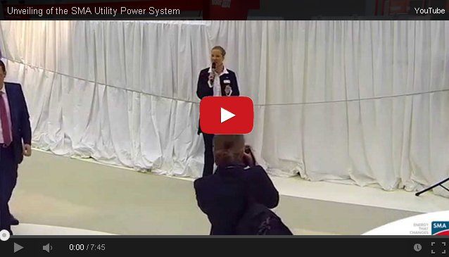 Unveiling of the SMA Utility Power System