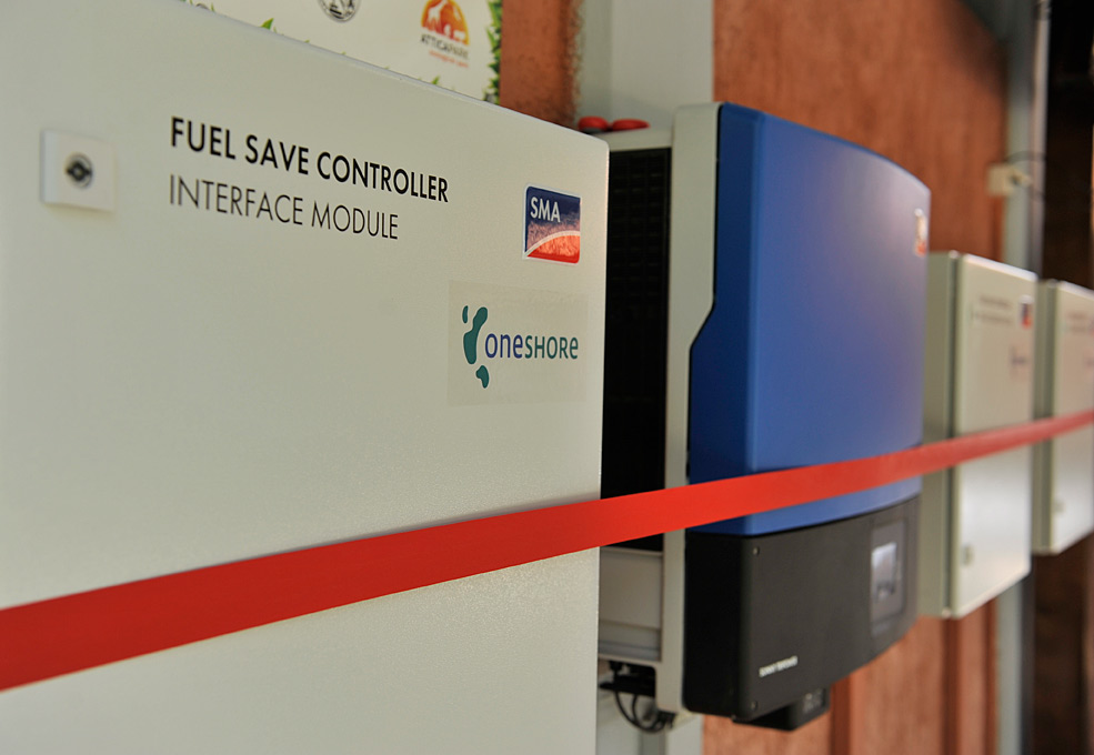The Fuel Save Controller module prior to the official commissioning ceremony.