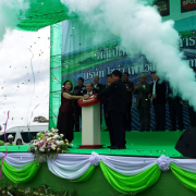 Grand openning with Mrs. Wandee ( MD of Solar power)