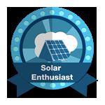 "Badge ""solar enthusiast"""