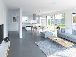 Lichtdurchflutet und offen: Der Wohnbereich im EnergieSpeicherPlusHaus