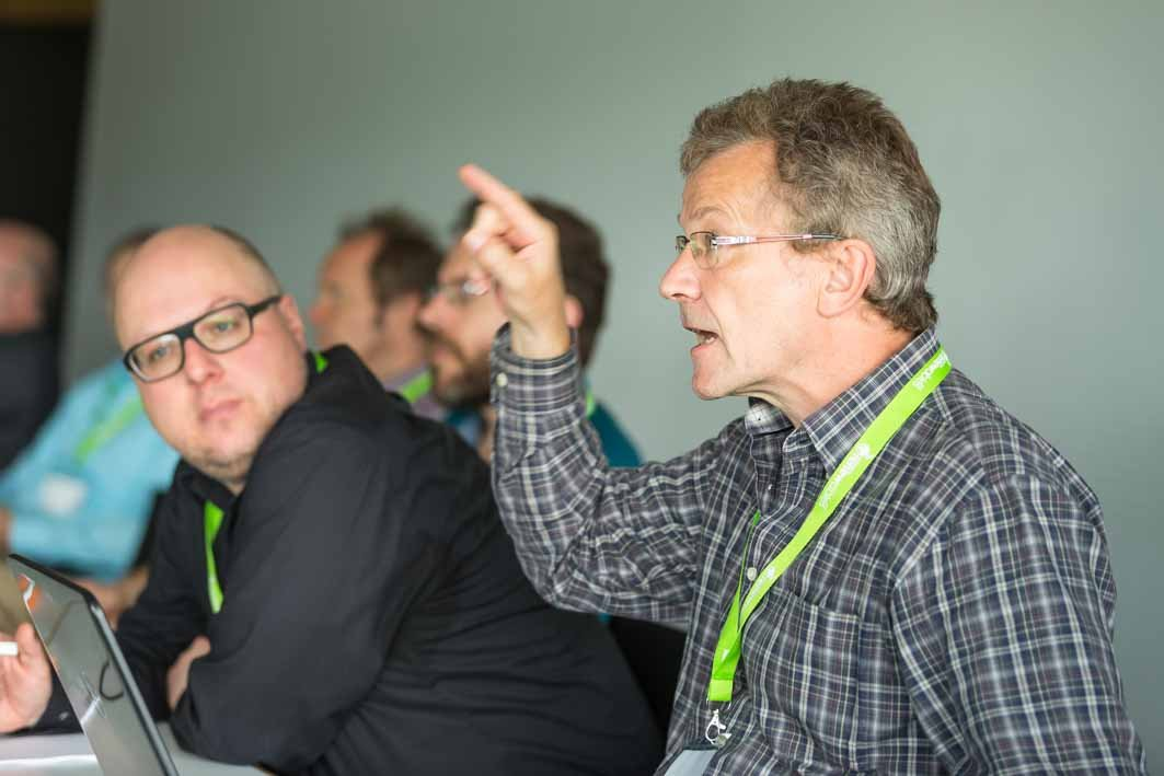 Engagierte Diskussionen auf dem Barcamp Renewables 2014 Foto: Heiko Meyer