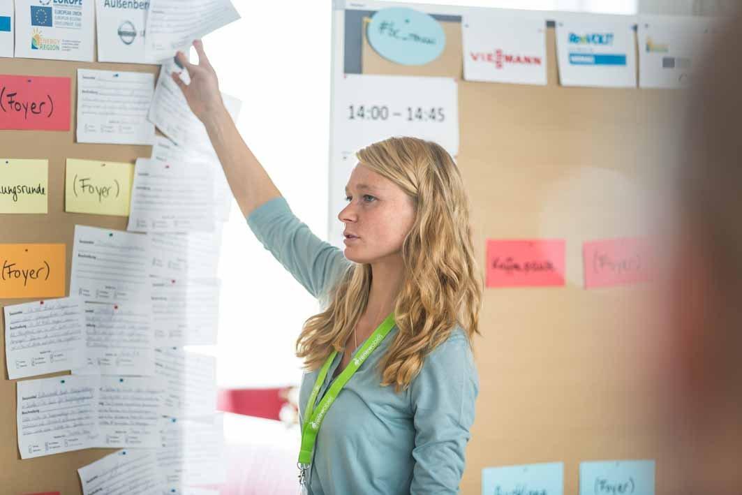 Sessionplanung auf dem letzten Barcamp. Foto: Heiko Meyer