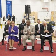 Mrs. Helen Zille, Mr. Mzwandile Masina, MEC Alan Winde (first row)