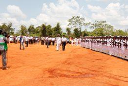 Militärparade zur Einweihung