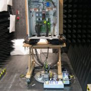 The EMC test is designed to analyze how the boxes respond to electromagnetic radiation.