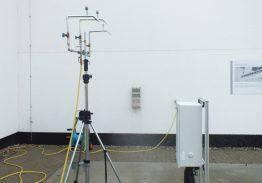 Regen- und Sprinklertest: Hier wird getestet, ob die Geräte Feuchtigkeit und Wasser standhalten.