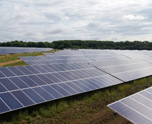 The Glebe/Odell Solar Farm near Wellingborough in the UK