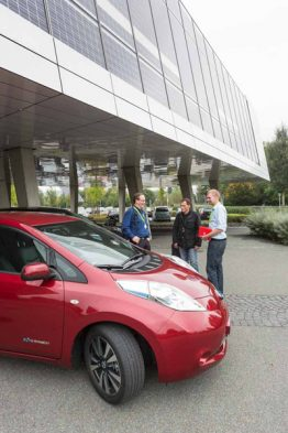 Auch dieses Jahr stellt Nissan einen e-NV200 für Probefahren zur Verfügung.