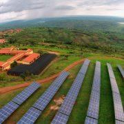 Dronenbild vom Solarpark