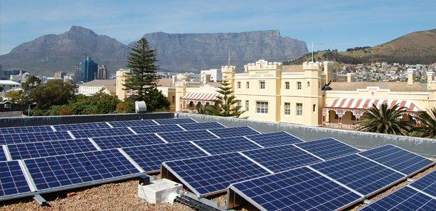 Victoria & Alfred Waterfront mit Solaranlage