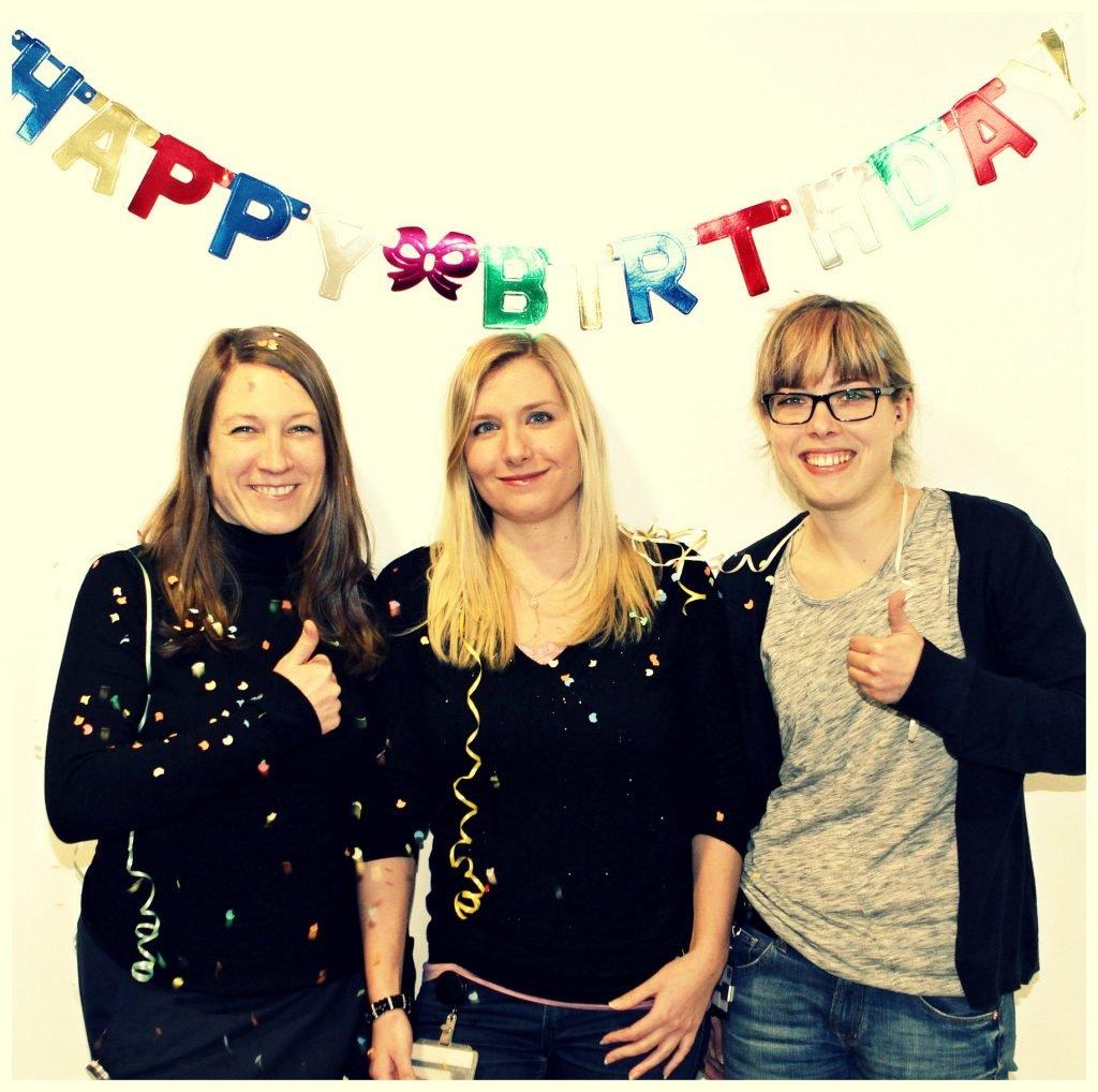 Danke, Leonie, Sarah und Julia, für das nette Geburtstagsfoto