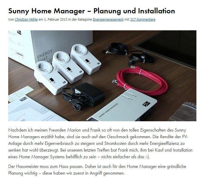 Praktische Anleitung: So plane und installiere ich den Sunny Home Manager