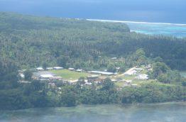 Topshot of Rotuma island with pv generator