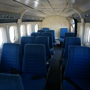 The propeller-driven plane has only 20 seats.