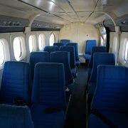 In der Propellermaschine gibt es nur 20 Sitzplätze.