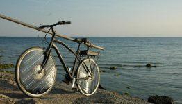 Diese Variante des Solar Bikes hat den Akku hinten montiert.