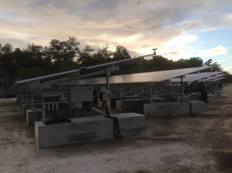 164kW PV plant located on Peleliu