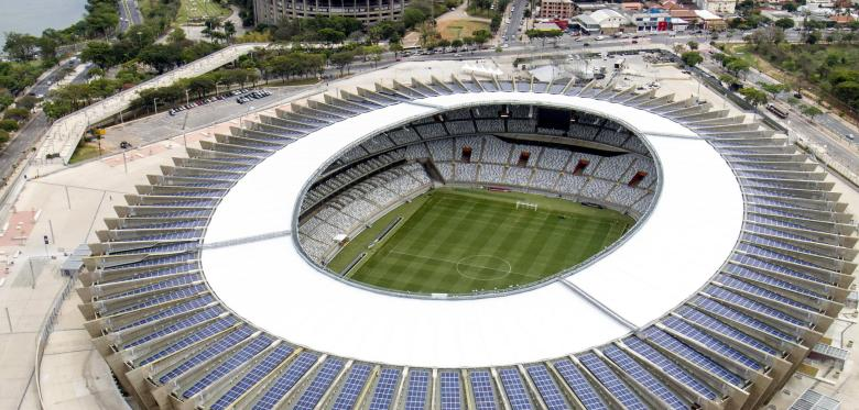 Stadion Belo Horizonte mit PV Quelle pa AP Photo