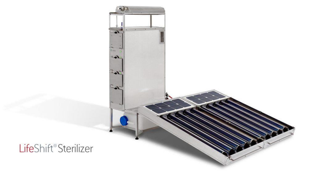 Der LifeShift Sterilizer ist ein tragbares, solarbetriebenes Medizingerät zur Reinigung, Desinfektion und Sterilisation von OP-Instrumenten. Es ist speziell für den Einsatz in Entwicklungs- und Schwellenländern konzipiert.