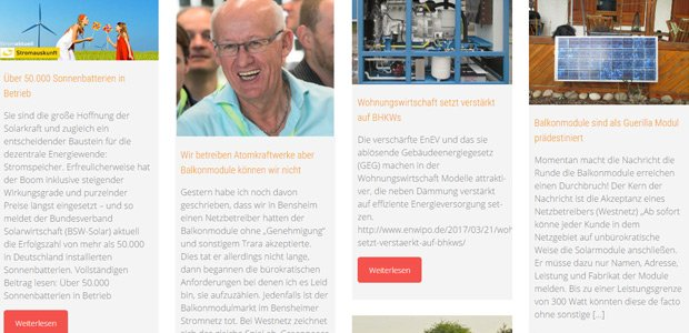 Jetzt noch informativer: Energieblogger-Website im neuen Design