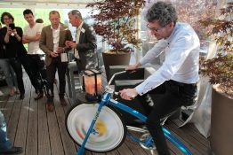 Energy that Changes: das Smoothie Bike war ein Highlight der Jubiläumsfeier