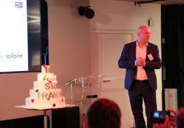 Jan Van Laethem, Regional Manager SMA West Europe, bei der Jubiläumsfeier