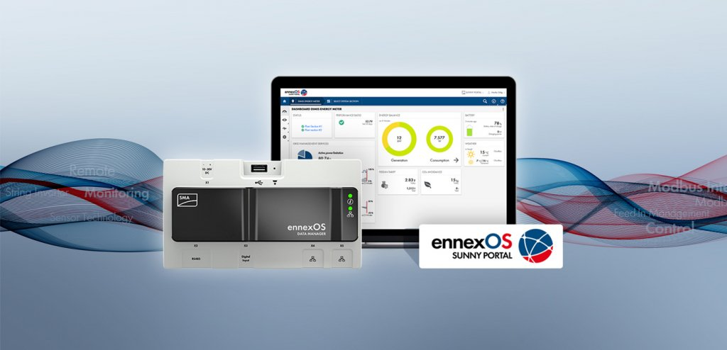 Nominiert für den Smarter E Award: Der Data Manager M powered by ennexOS.