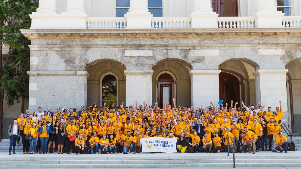 Solar Professionals Take Over the California State Capitol in Support of Energy Storage