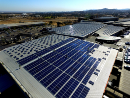 The newly installed PV system on Namibia's largest shopping mall has a capacity of 2.816 megawatts.