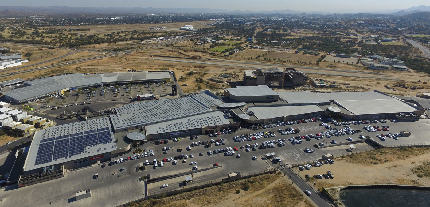 PV System Reduces Electricity Costs in Namibia's Largest Shopping Mall