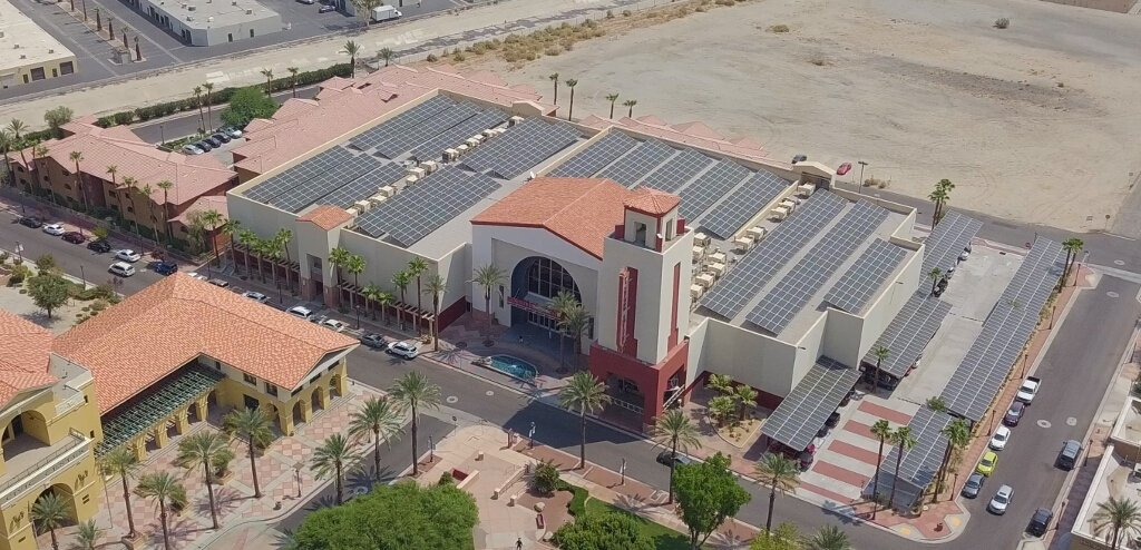Californian Cinema is Powered by Solar Energy Including Storage System