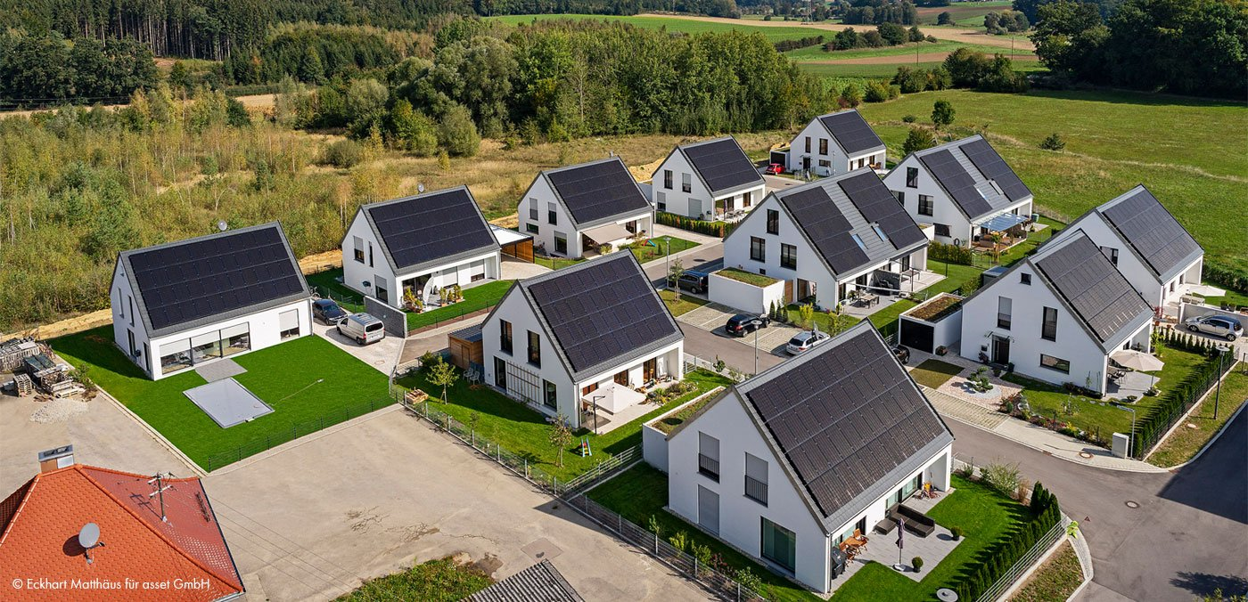 Efficiency House Plus Settlement in Hügelshart: Residents Save More Than 50% of Energy Costs