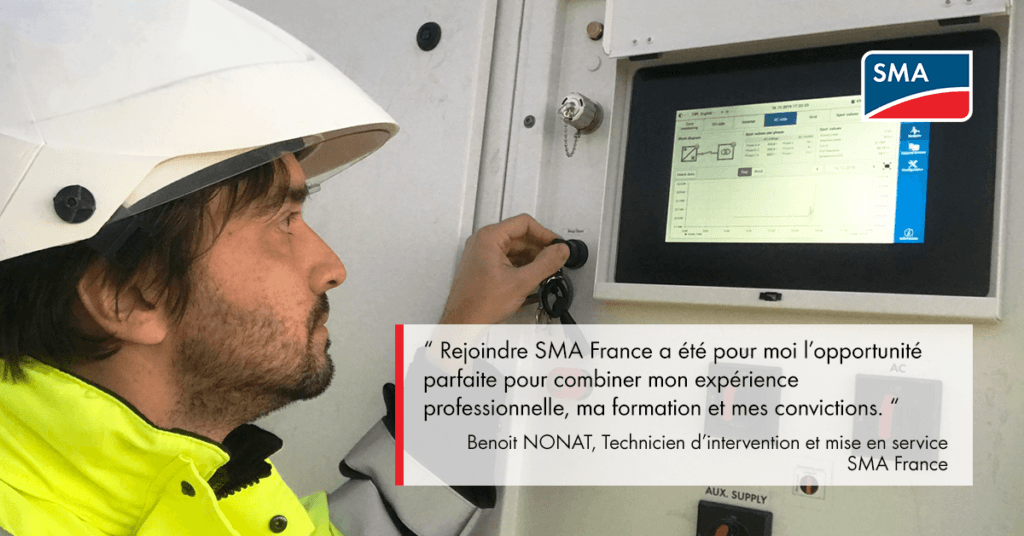 Lumière sur… Benoit NONAT, Technicien d'intervention et mise en service