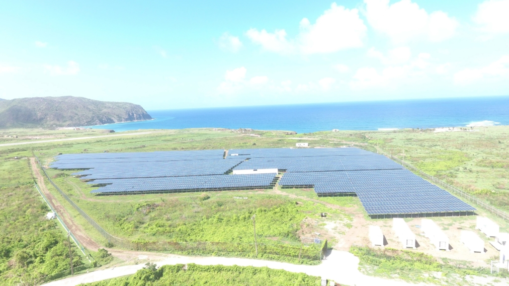 PV-Diesel-Hybrid system on the Carribbean island St. Eustatius.