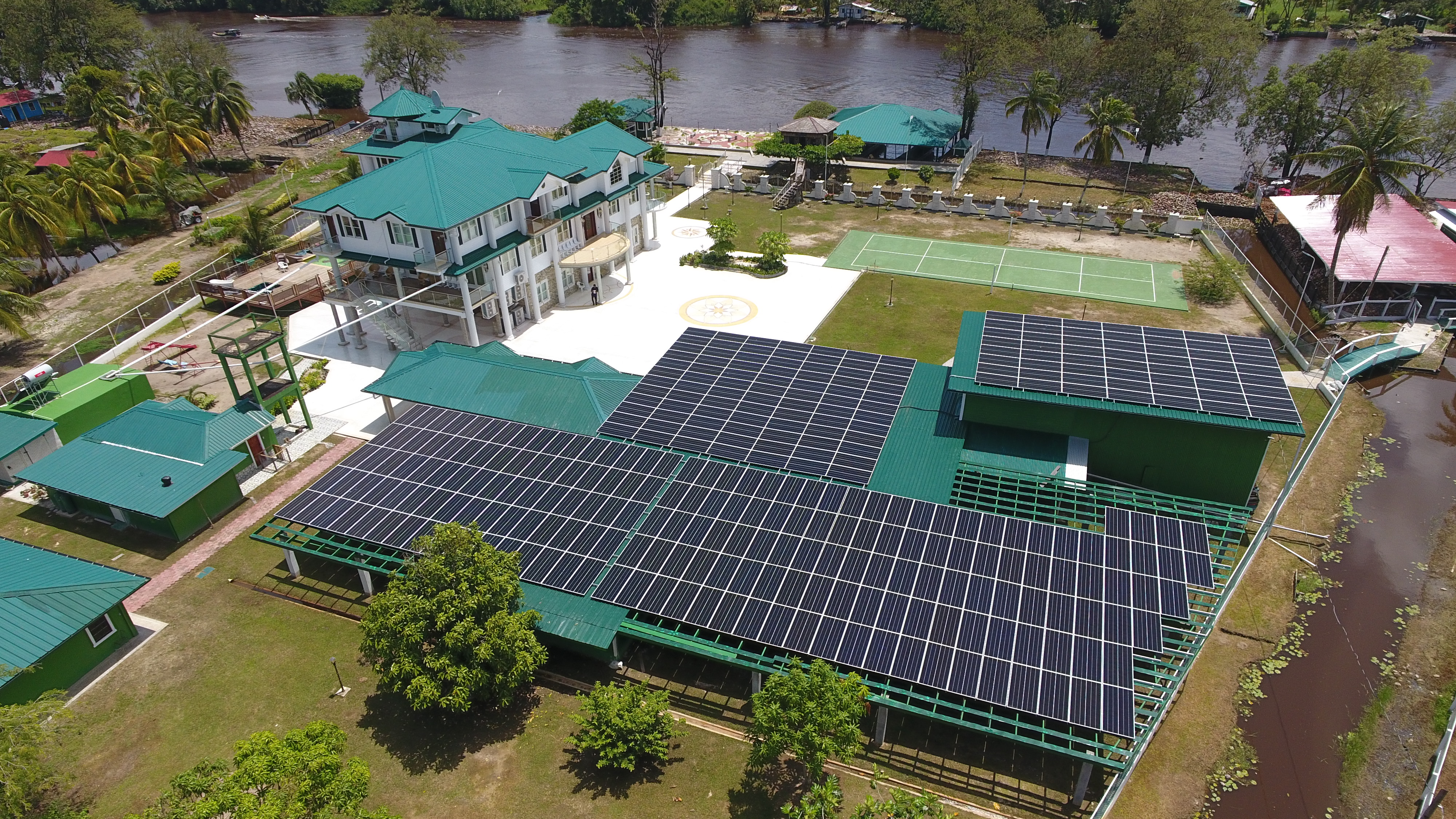 Solar Power Shreds Carbon Pollution at Coconut Processing Facility in Guyana