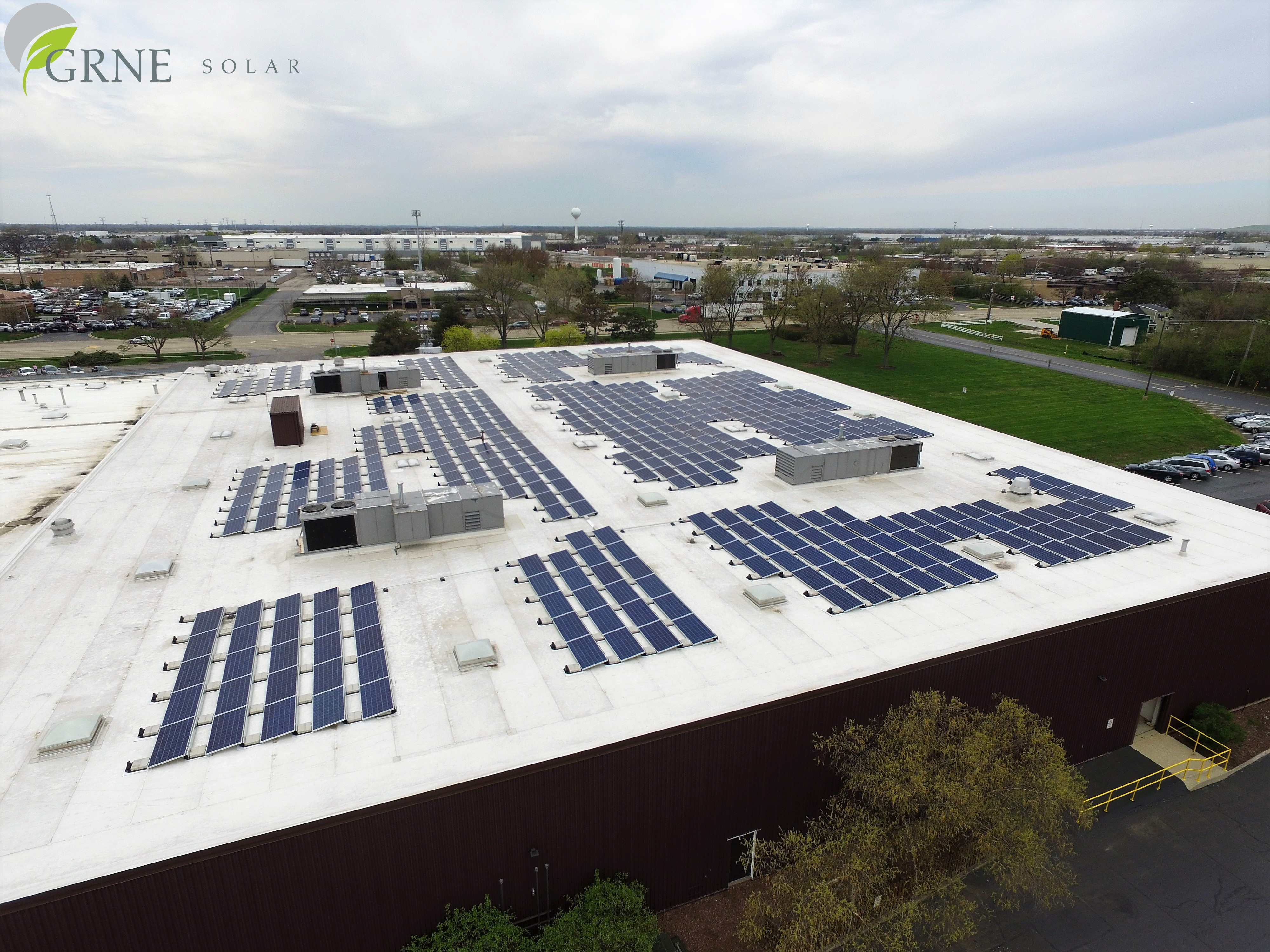 GRNE Solar Installation at Spraying Systems facilities