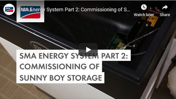 Sunny Boy Storage - Commissioning