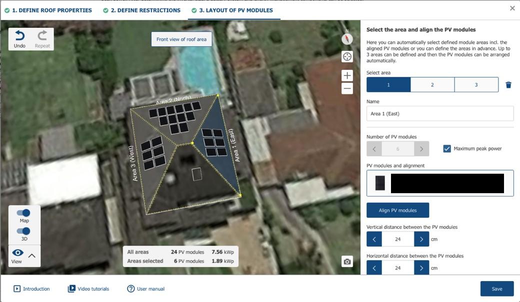 Screenshot from Sunny Design Web